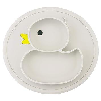 Amazon.com: Placas de silicona para bebés, platos divididos ...