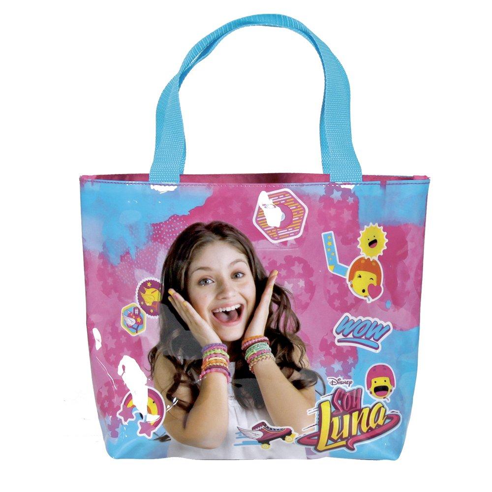 PERLETTI Shopper bag Disney Soy Luna - Borsetta Tote a mano Bambina e Ragazza - Rosa e Azzurro - 25x33x8 cm 13218