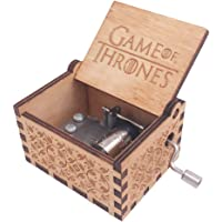 Music Box Hand Crank Musical Box Carved Wooden,Tune:The Theme Song of Game of Thrones