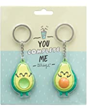 Mr. Wonderful Set de 2 llaveros Aguacate para Personas Que encajan a la perfección (