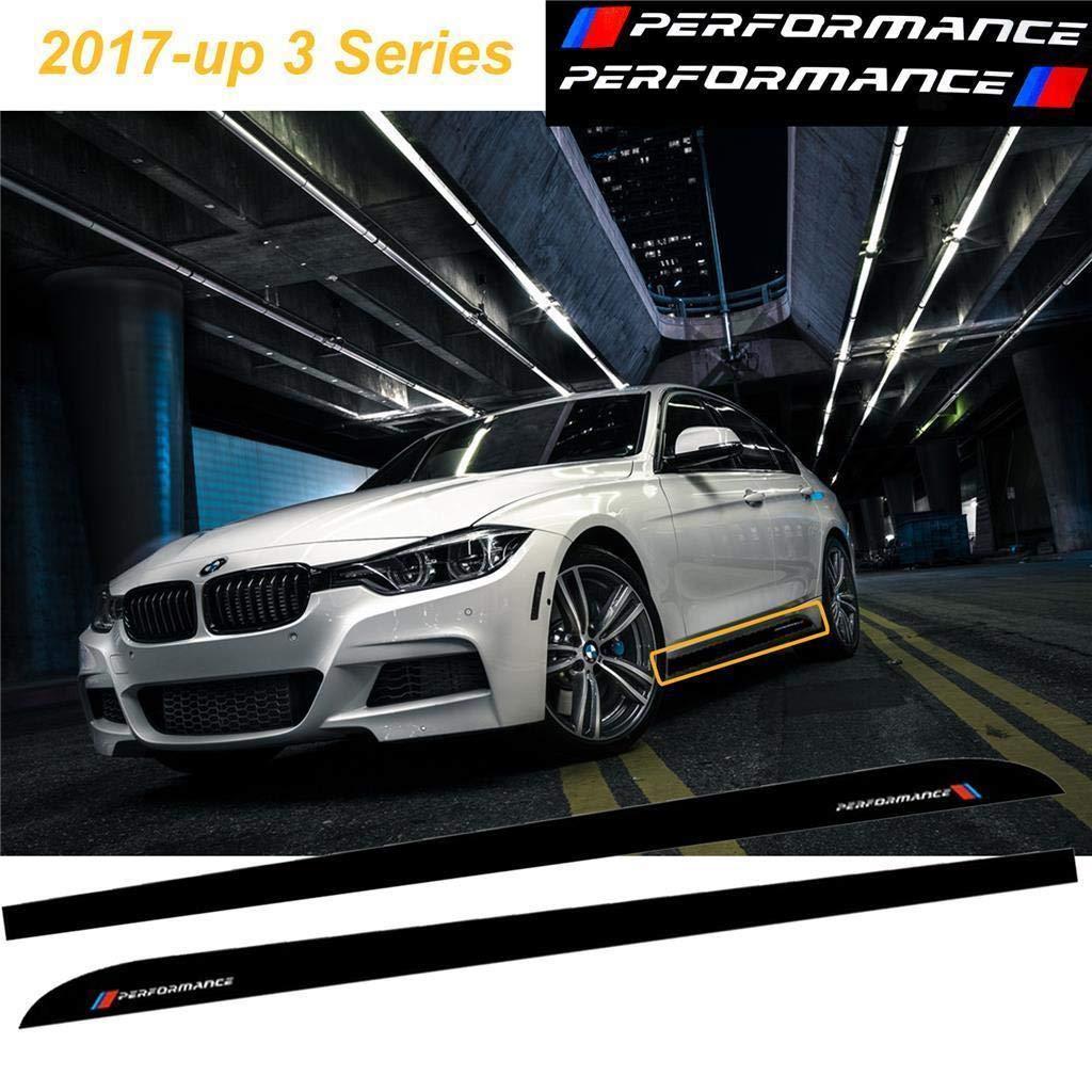 Amazon com car side skirt sticker xotic tech m performance door sill stripe decal fit bmw 3 series 2017 up f30 f31 f34 2pcs matte black automotive