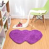 Hoomy Purple Chenille Floor Rugs Heart Shape Modern Floor Mats for Bedside Nonslip Solid Floor Runner Living Room Floor Rug 27.5″X63″ Review