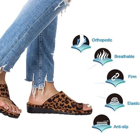 HLJ LX Sandalias Correctoras,2019 Nuevas Mujeres Cómodas Sandalias Reducen El Dolor De Juanetes por Fricción para La Mujer,Zapatillas De Playa De Verano Zapatillas De Viaje