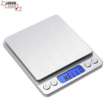 Toprime - Báscula digital de bolsillo para cocina, 500 g, 0,01 g