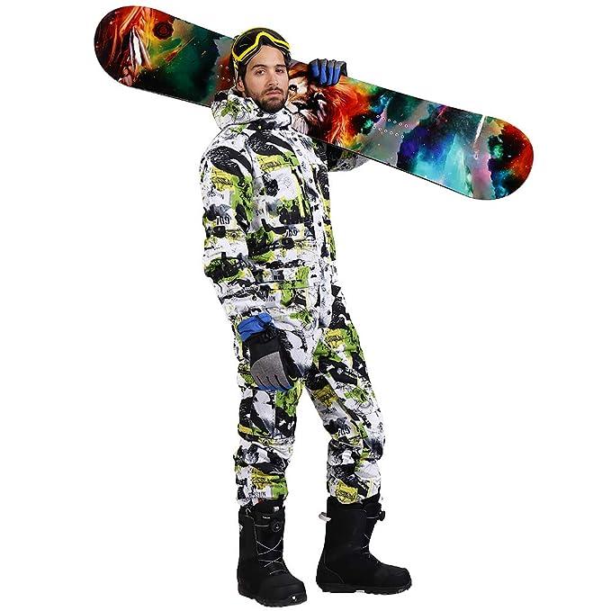 Amazon.com: saenshing de los hombres traje de esquí ...