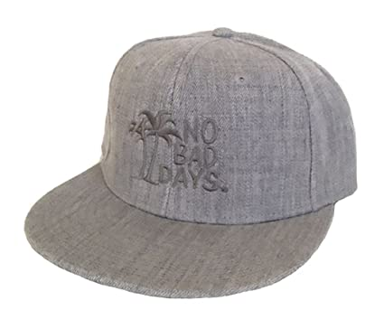 bb5dcd4e9a3 Image Unavailable. Image not available for. Color  No Bad Days Heather Wool  Blend Snapback Cap - Light Grey
