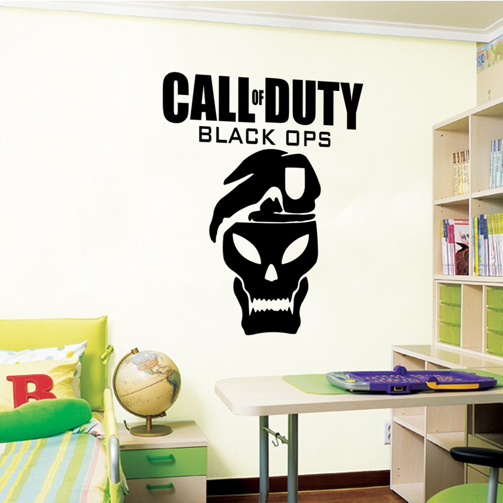 Amazon call of duty black ops wall decal art sticker boys amazon call of duty black ops wall decal art sticker boys bedroom playroom hall color black size medium home kitchen amipublicfo Image collections