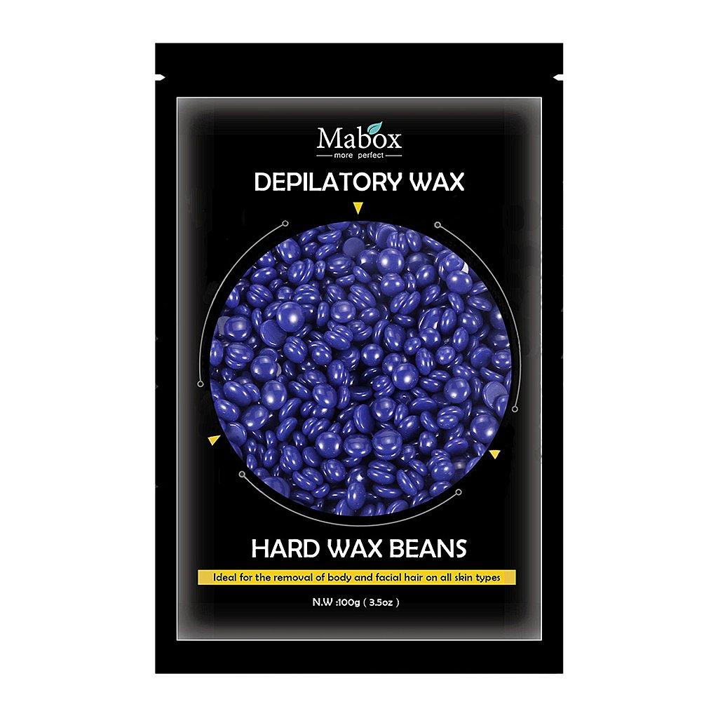Homyl Hard Wax Beans Bikini Pearl Hot Waxing Beads Facial Hair Removal Depilatory for Face Body Eyebrow Nose Leg - Lavender, 17.5 x 10.5 cm