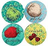 Flox 'Le Pop Fruit' Rubber Coasters