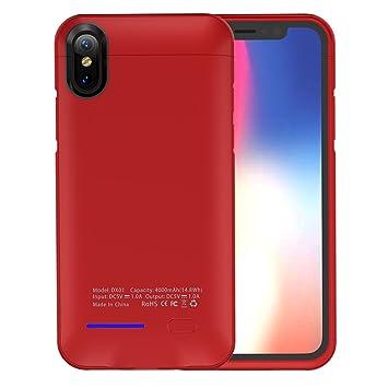 iPhone X Funda Batería, Moonmini 4000mAh Li-polímero ...