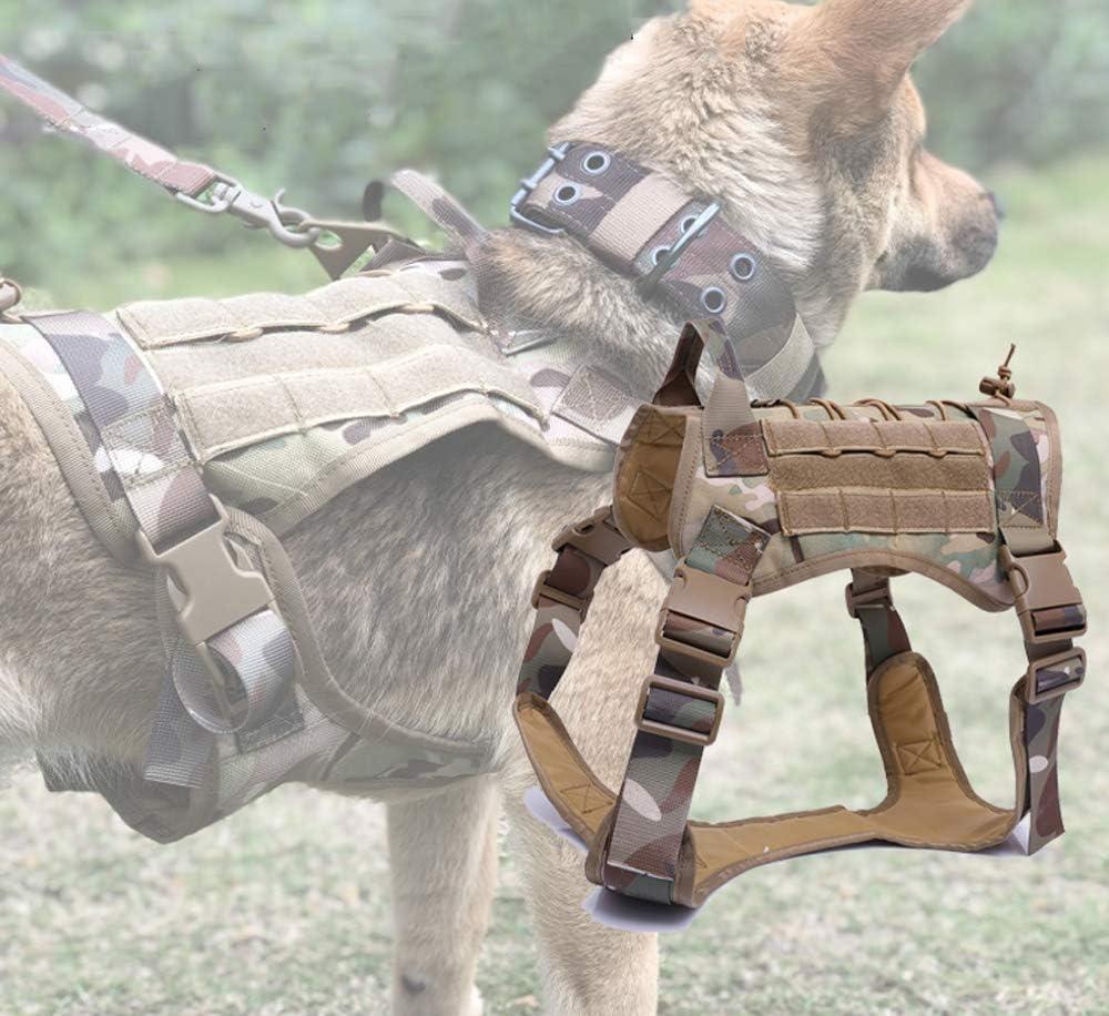 TINGYIN Servicio táctico Chaleco para Perros Patrulla Militar ...