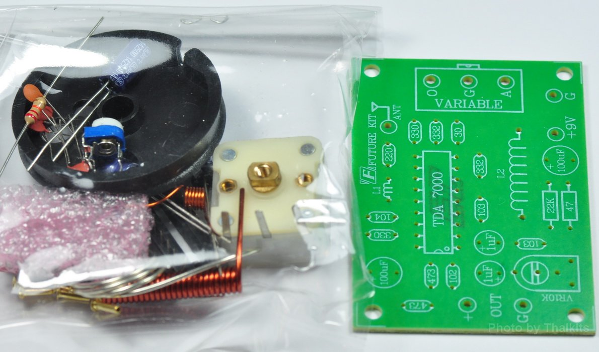 Basic Fm Radio Circuit Kit 88 108mhz Tda7000 Nxp 45 Receiver Using Diagram 9vdc Unassembled Fk707 Everything Else