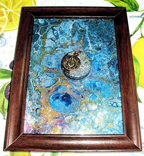 Orgone Fluid Painting - Sun Dial ()