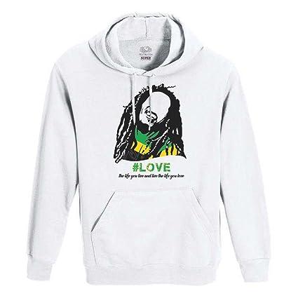 Roly Sudadera Blanca uomo-Donna Unisex Fruit of The Loom – Bob Marley, Unisex
