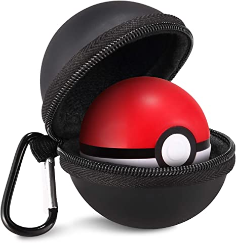 IDESION Funda protectora para Poké Ball Plus Funda de transporte para Pokémon Nintendo Switch Lets Go Pikachu Evoli Negro: Amazon.es: Videojuegos