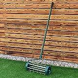 Goplus 18-inch Rolling Lawn Aerator Garden Yard