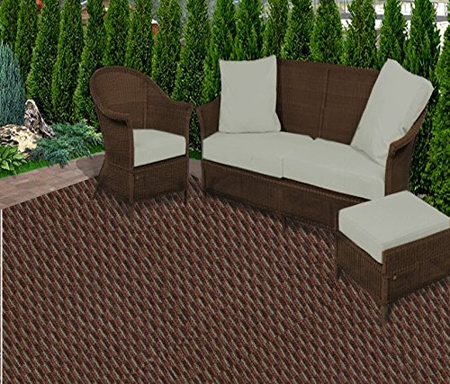 Koeckritz Rugs 9'x12' Brick Walkway Pattern Play Indoor/Outdoor Area Rug Carpet, Runners With Many Sizes and Bond FINISHED (Walkway Runner Mats)