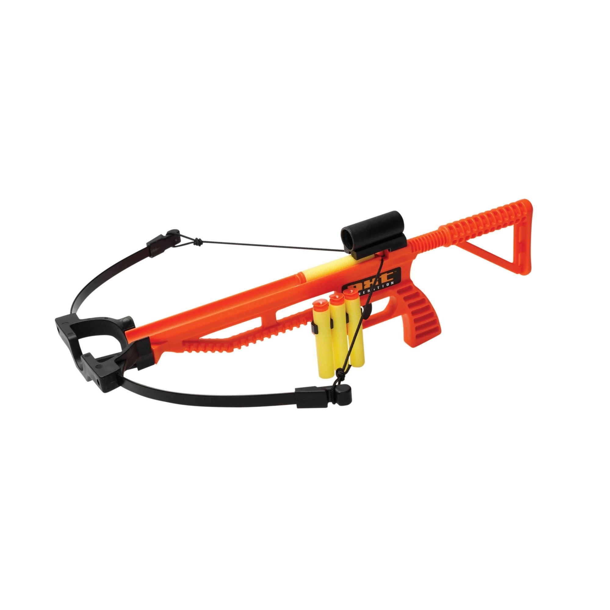 NXT Generation Orange Blaze Tactical Crossbow, Target, and 3 Foam Suction Cup Projectiles - Archery Target Practice Toy for Teens