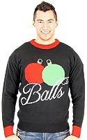 Balles de vacances Décorations Collants pour adulte Noir Ugly Pull de Noël