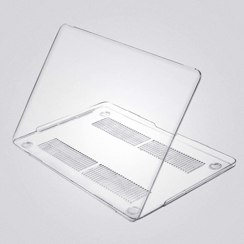 CASEBUY MacBook Pro 13.3 Inch Case A2159 A1706 A1708 A1989, Crystal Clear Hard Shell for Newest MacBook Pro 13 Inch with/without Touch Bar (A2159/ A1706/ A1708/ A1989, Release 2019-2016), Clear