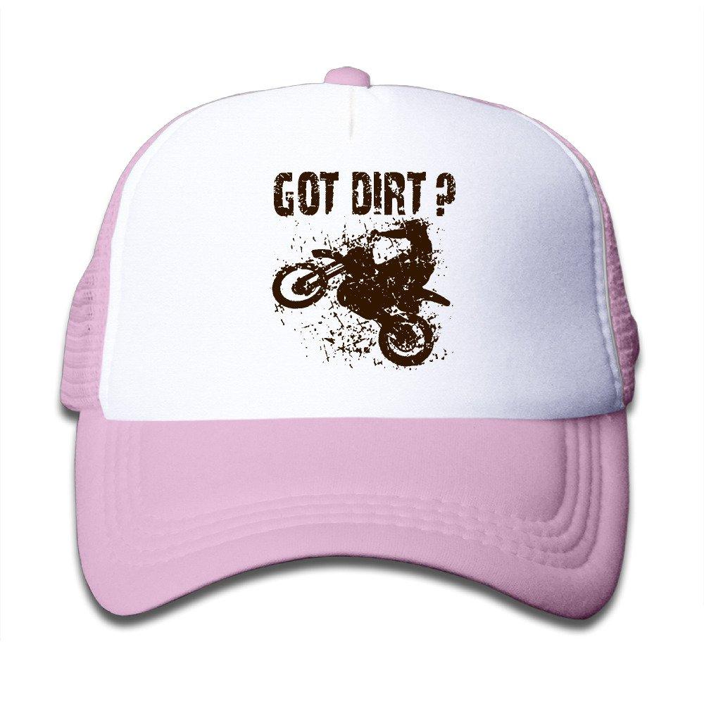 Got Dirt Bike Motorcross Racing Mesh Hat Trucker Style Outdoor Sports Baseball Cap with Adjustable Snapback Strap for Kids Pink