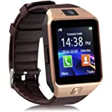 DZ09 Bluetooth Smart watch Wearable Devices with SIM TF Card Slot Electronics Smart watch 1.54 Inch Touch Screen for Android Smartphone IOS Ssmartphone (Gold)