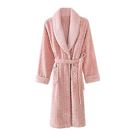Ladies Luxury Flannel Pajama Soft Warm Cosy Shower Robe Adults Shawl ...