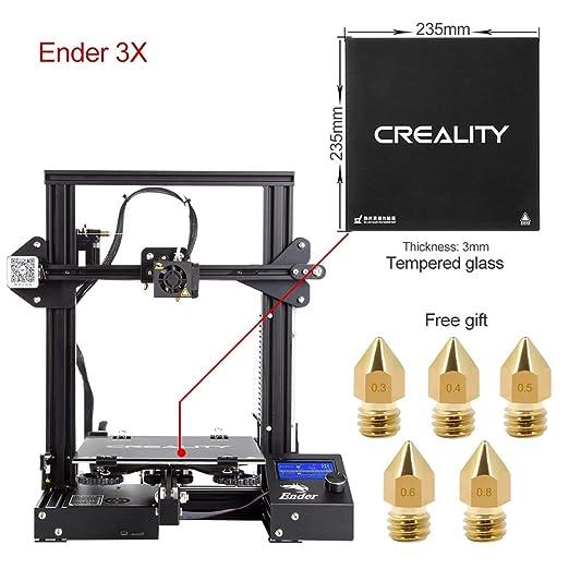 63 opinioni per Comgrow Creality 3D Stampante 3D DIY Ender-3 con Lastra di Vetro Temperato e