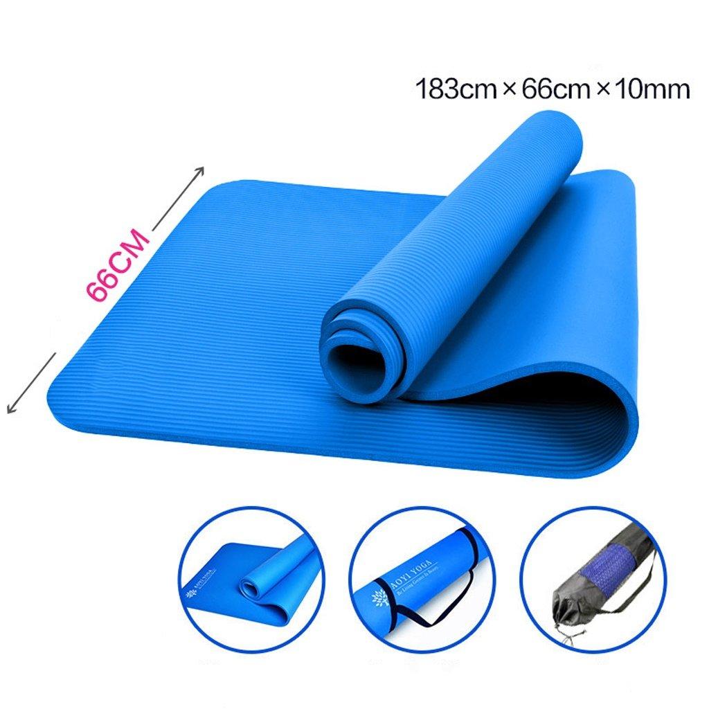 Yoga-Matte, 183cmX60cmX10mm Yogamatte, Verlängerung Erweiterung Fitness-Matte, Fitness-Matte Yoga Mat