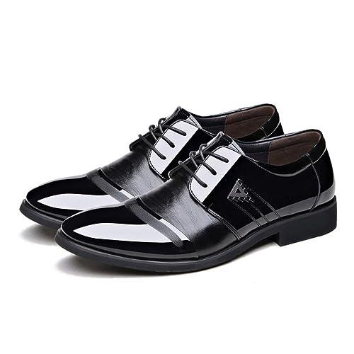 Estilo de Verano Moda Hombres cómodos Mocasines Casual Zapatos de Cuero Suave Hombres Pisos Masculinos Uso Diario Calzado de conducción - Negro 42: ...