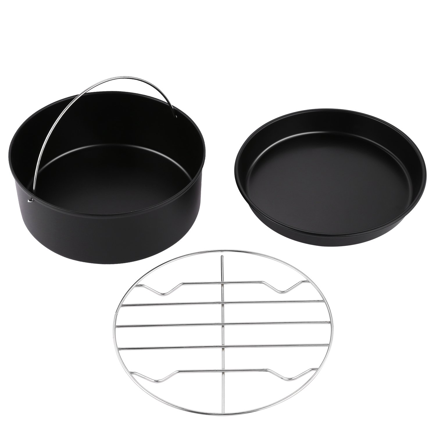 MeyKey Air Fryer Accessories 3pcs for fit All 5.3QT 5.8QT with 7 inch Diameter