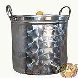 Hoppy Pentola 35 Litri Inox Filtrante Con Filtro Bazooka E Rubinetto Birra All Grain