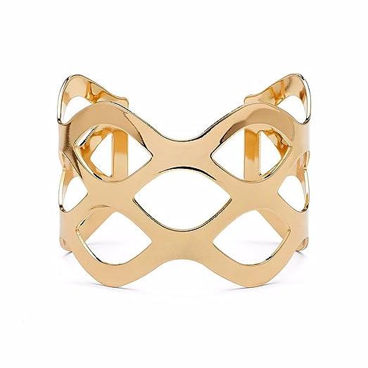Amazoncom Chunky Bracelets Gold Cuff Bracelet Cuff Bangle