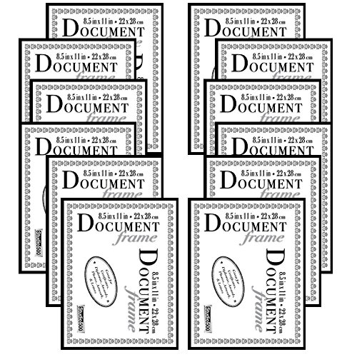 Studio 500 8.5 by 11-inch, The Original Document Photo Frame, Black, 12-Pack by Studio 500