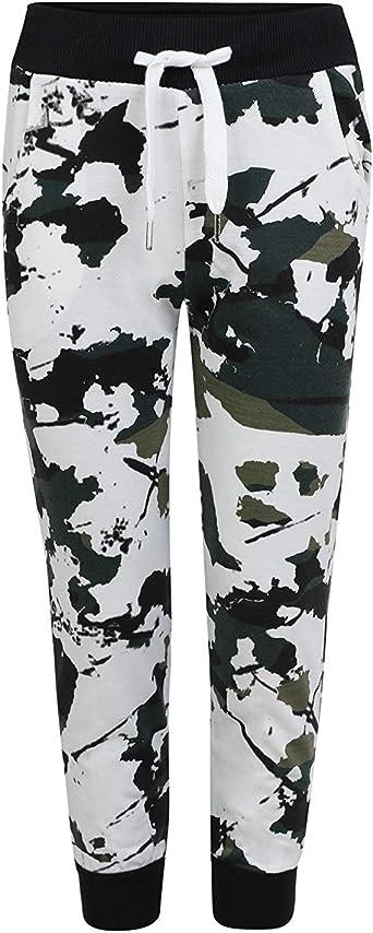 YoungSoul Pantalon Cargo Camouflage Resserr/é aux Chevilles Garcon