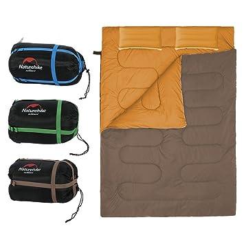 Saco de Dormir Portátil para 2 Personas Bolsa de Dormir de 4 Estaciones con Almohada para Camping Senderismo al Aire Libre (Color : Marrón) : Amazon.es: ...
