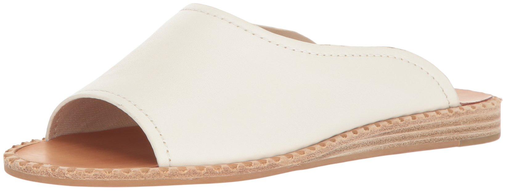 Dolce Vita Women's Poe Slide Sandal, Off White Leather, 7 M US