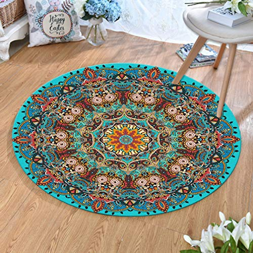MOXIC Traditional Round Area Rugs Soft Living Room Bedroom Children Kids Crawling Rug Bathroom Mats Anti-slip Persian Heriz Carpet Vintage Home Decorate Collection Circular Nursery Runners 3.3' X -