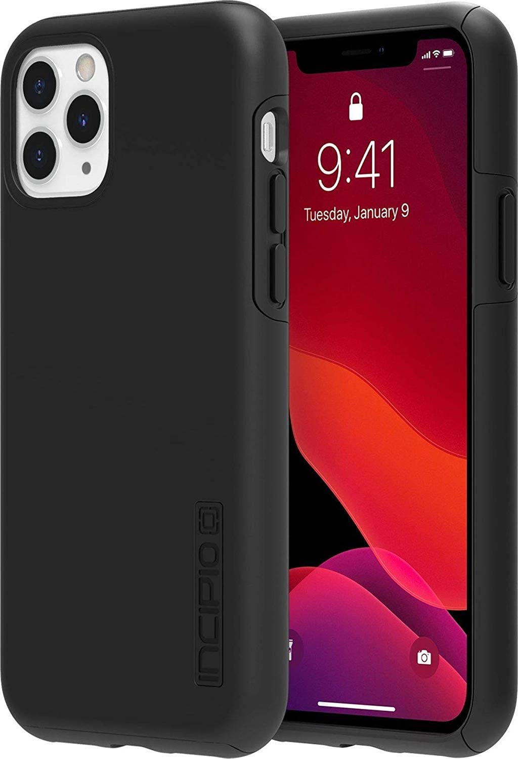 Incipio DualPro Dual Layer Case for Apple iPhone 11 Pro Max with Flexible Shock-Absorbing Drop-Protection - Black
