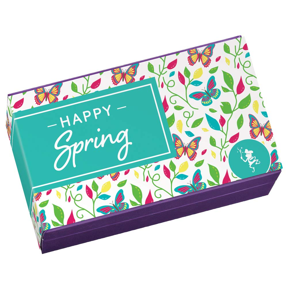 Fairytale Brownies Spring Sprite Dozen Gourmet Chocolate Food Gift Basket - 3 Inch x 1.5 Inch Snack-Size Brownies - 12 Pieces - Item HR212SP by Fairytale Brownies (Image #2)
