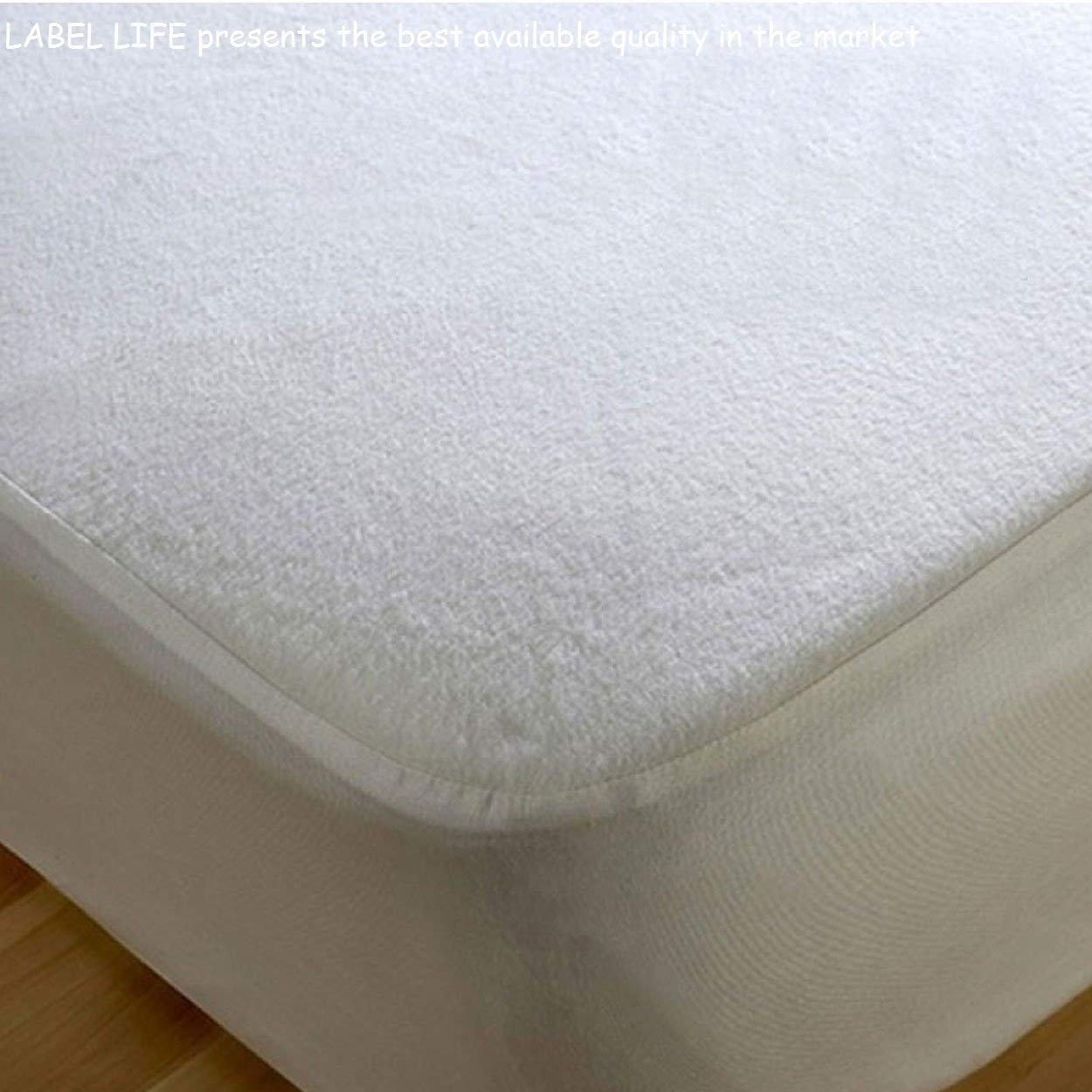 High Quality Terrry Towel Waterproof Fitted Sheet Mattress Protector (Small Double / 4ft) Dream Project