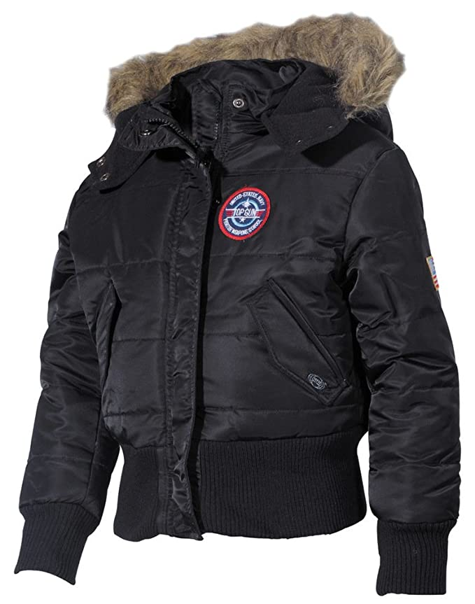 MFH US Kinder-Polarjacke schwarz N2B Kapuze mit Fellkragen Gr/ö/ßenangabe