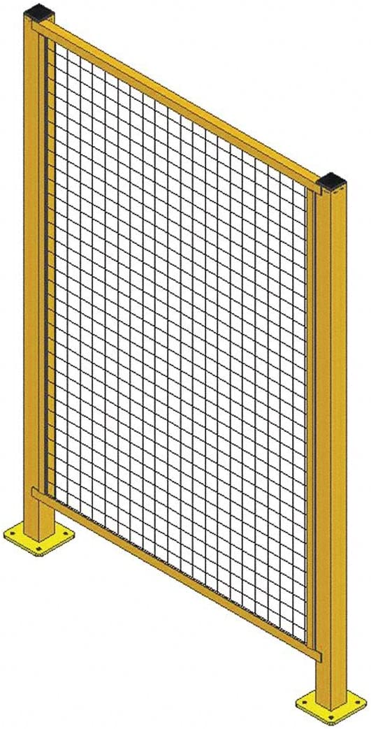 W 6 ft H x 4 ft Wire Partition Panel