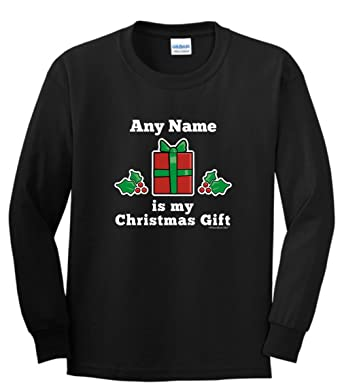 8f8b5b7039f Personalized Personalized Name is My Custom Youth Long Sleeve T-Shirt Small  Black