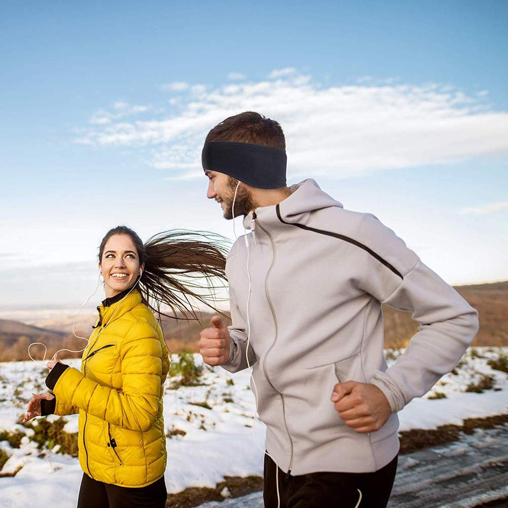 Cache-Ski dhiver Manchons doreille Bandeau de Protection Le Running en Forme doreille Hommes Femmes SEALEN Lot de 2 Serre-T/ête en Laine Polaire
