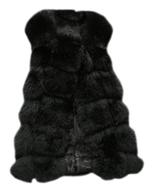 d494e853c07d ZongSen Women s Faux Fur Vest Gilets Coat Jacket Sleeveless Long ...