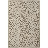 Safavieh Martha Stewart Collection MSR3621D Premium Wool and Viscose Sharkey Grey Area Rug (4' x 6')