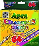 Crayons 64ct. Boxed, Case Pack of 48, Ideal for Bulk Buyers