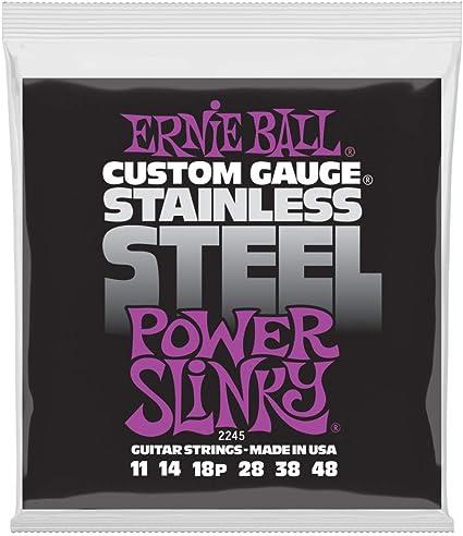 Cuerdas para guitarra eléctrica tejida de acero inoxidable Slinky ...