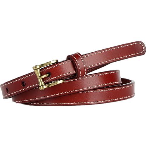 Lawevan® cintura elegante vita semplice stile di moda con fibbia in lega gancio in pelle Cintura